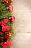 Christmas decoration border Stock Photos