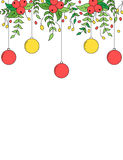 Christmas decoration border background Royalty Free Stock Photography