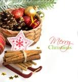 Christmas Decoration Border design Royalty Free Stock Image