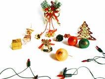 Christmas Decoration Border design isolated on white background Stock Photos