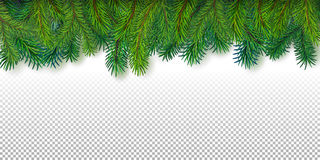 Christmas decoration border Royalty Free Stock Image