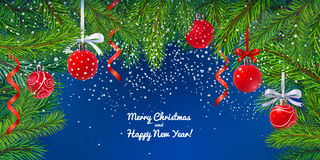 Christmas decoration border Stock Images
