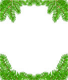 Christmas decoration border On White Background Vector Royalty Free Stock Photos