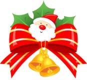 Christmas Decoration Bow Santa Holly Royalty Free Stock Photo