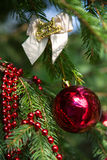 Christmas decoration on branch Stock Images