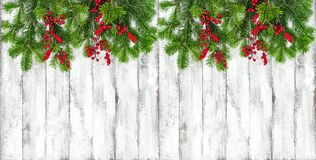 Christmas decoration Winter holidays border royalty free stock image