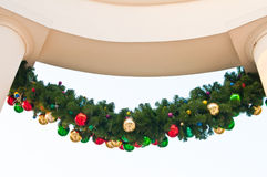 Christmas decoration on building Royalty Free Stock Photography