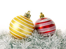 Christmas decoration bulbs Royalty Free Stock Photo
