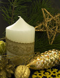 Christmas decoration with candle Royalty Free Stock Photos