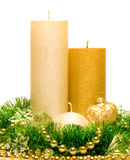 Christmas Decoration Candle Royalty Free Stock Photography