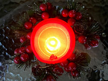 Christmas decoration with candle Stock Photos