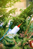 Christmas decoration candle light fir tree Royalty Free Stock Photography