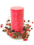 Christmas decoration - candle Stock Images