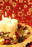 Christmas decoration with candles Royalty Free Stock Images