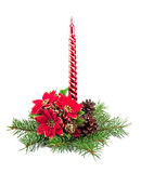 Christmas decoration with candles Royalty Free Stock Photos