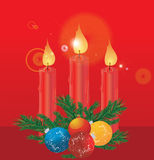 Christmas decoration with candles Stock Photography