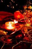Christmas decoration with candles Stock Image