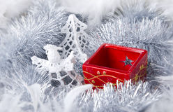 Christmas decoration with candlestick Stock Images
