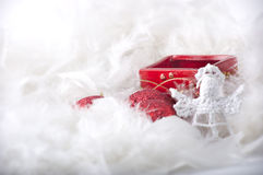 Christmas decoration with candlestick Stock Photography