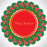 Christmas decoration card Royalty Free Stock Images
