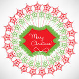 Christmas decoration card Stock Photo