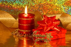 Christmas Decoration Card - Stock Photo Royalty Free Stock Images
