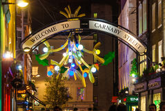 Christmas decoration at Carnaby Street, London Royalty Free Stock Photo