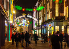 Christmas decoration at Carnaby Street, London Royalty Free Stock Photography