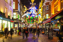 Christmas decoration at Carnaby Street, London Royalty Free Stock Images