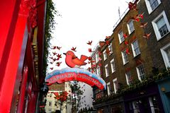 Christmas decoration in Carnaby street. Stock Photography
