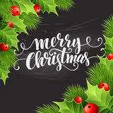 Christmas decoration on chalk board. Vector Royalty Free Stock Images