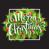 Christmas decoration on chalk board. Vector Stock Images