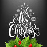 Christmas decoration on chalk board. Vector Stock Image