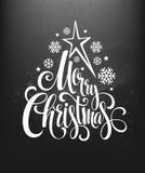 Christmas decoration on chalk board. Vector Royalty Free Stock Photos