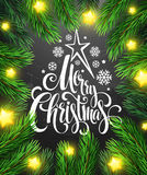 Christmas decoration on chalk board. Vector Stock Photography