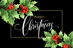 Christmas decoration on chalk board. Vector illustration Royalty Free Stock Images