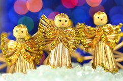 Christmas decoration, choir of angels Stock Images