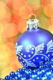 Christmas decoration, christmas ball against bokeh background Stock Photos