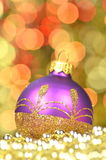 Christmas decoration, christmas ball against bokeh background Royalty Free Stock Images
