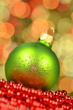 Christmas decoration, Christmas ball on bokeh background Royalty Free Stock Images