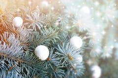 Christmas decoration - Christmas ball on Christmas Stock Image