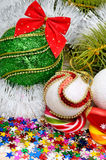 Christmas decoration, christmas baubles Royalty Free Stock Photo