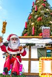 Christmas decoration at Christmas market in Dortmund, Germany Royalty Free Stock Photography
