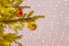 Christmas decoration, Christmas market, fairy lights Royalty Free Stock Photo