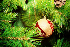Christmas decoration on the Christmas tree Royalty Free Stock Image