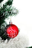 Christmas decoration in the Christmas tree Royalty Free Stock Images