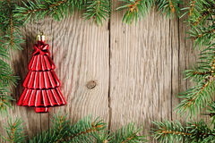 Christmas decoration and christmas tree branches Stock Image