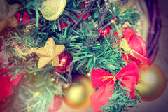 Christmas decoration - Christmas tree Royalty Free Stock Photo