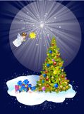 Christmas decoration of the Christmas tree Stock Images
