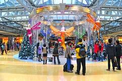 Christmas decoration cityplaza, hong kong. Tourists and local people around the huge christmas decoration at cityplaza in hong kong Stock Images